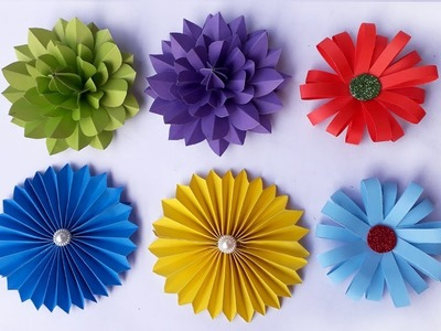 DIY: Paper Flowers || How To Make 3 Awesome Easy #Paper Flower || Paper Crafts