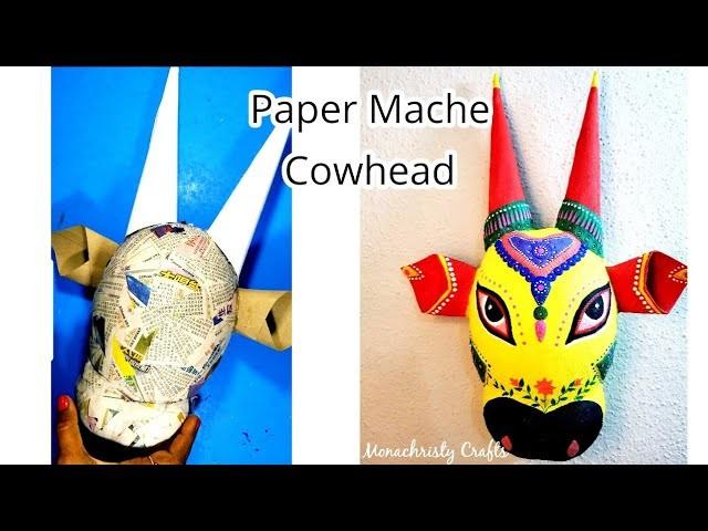 Diy Paper Mache Cowhead Unique Wall Decor Idea