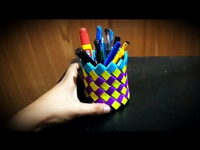 DIY  paper Pen Stand || Easy Craft Work !