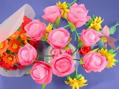 DIY Paper Rose | Easy Paper Rose Flower Crafts | Handy Crafts