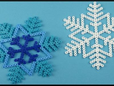 DIY | Perler Beads Christmas Snowflake | Room Decor | Bügelperlen Schneeflocke Weihnachten
