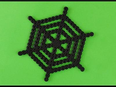 DIY | Time Lapse Halloween Spiders Web Perler Beads | Halloween Spinnennetz Bügelperlen