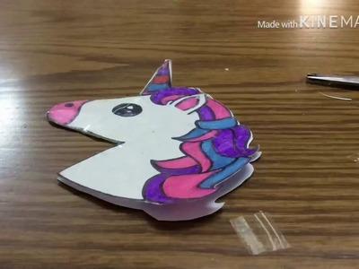 DIY unicorn squishy | DIY easy paper squishy #1 | Squishy without foam