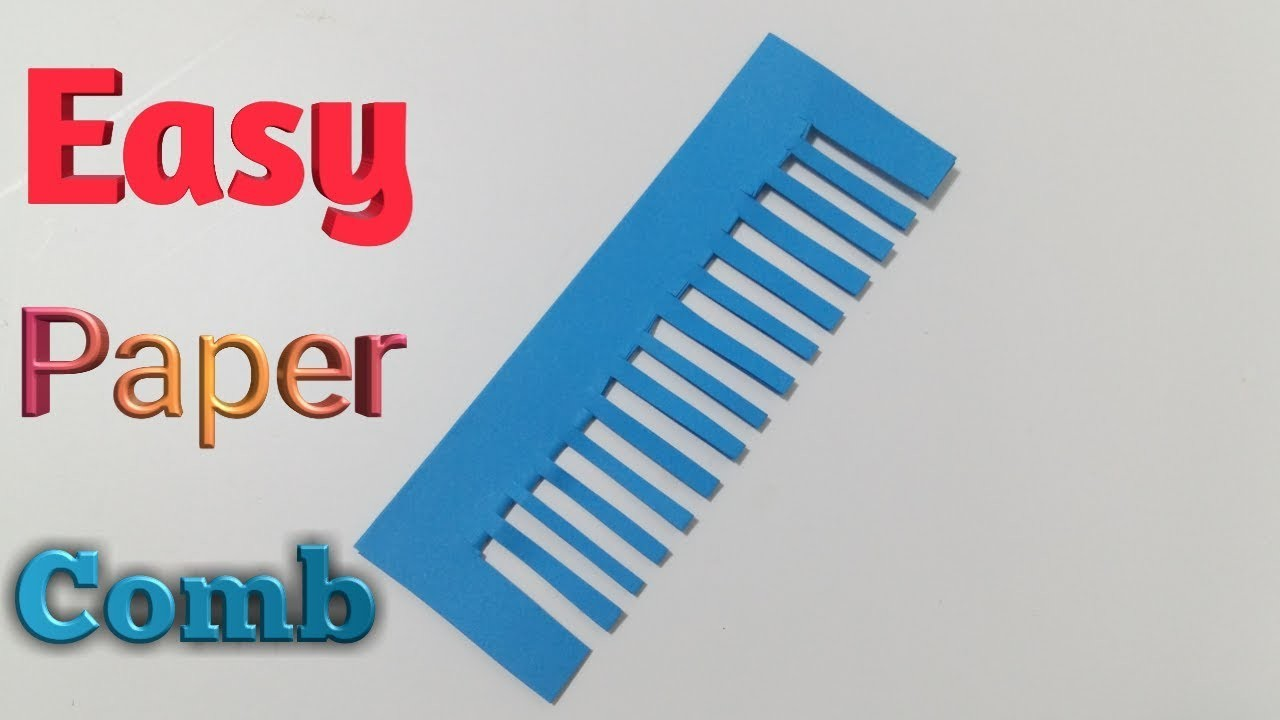 Easy Paper Comb- How to make Origami Paper Comb