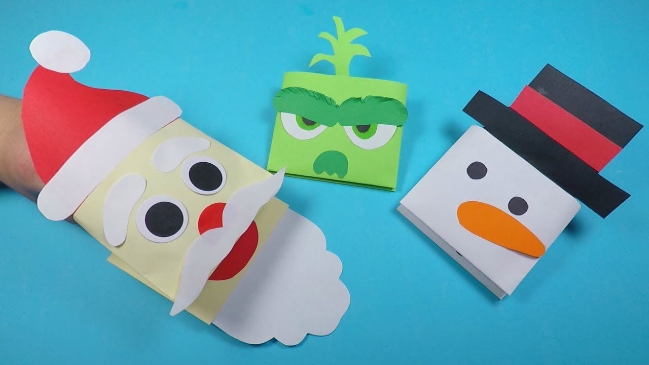 Fun Christmas Paper Puppets Combo | Christmas Crafts for Kids