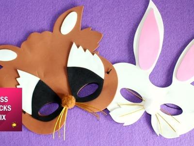 Halloween Foam Paper Masks For Kids   Halloween Crafts.