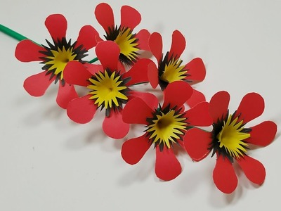 Handcraft: Paper Stick Flower Beautiful idea for Room Decoration || Jarine's Crafty Creation