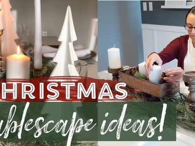 ????How to decorate a Table for Christmas | 2 Christmas Tablescape Ideas!