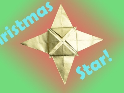 How to Fold an Origami Christmas Star