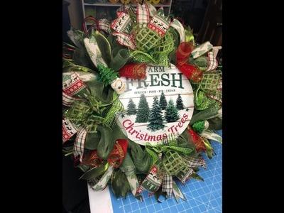 How to make a Christmas Wreath Pine Tree Theme