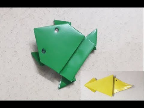 How to make a paper frog   origami jumping frog frog