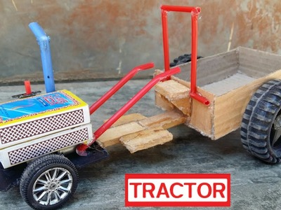 How To Make A Power Teller Trolley At Home - Mini Toy Tractor