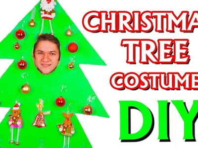 How to Make Christmas Tree Costume from Cardboard