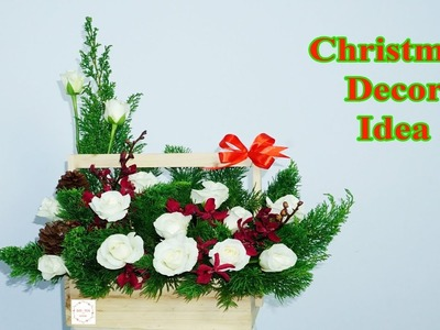 How to make Congratulation Flower Xmas Decoration flowers box ?
