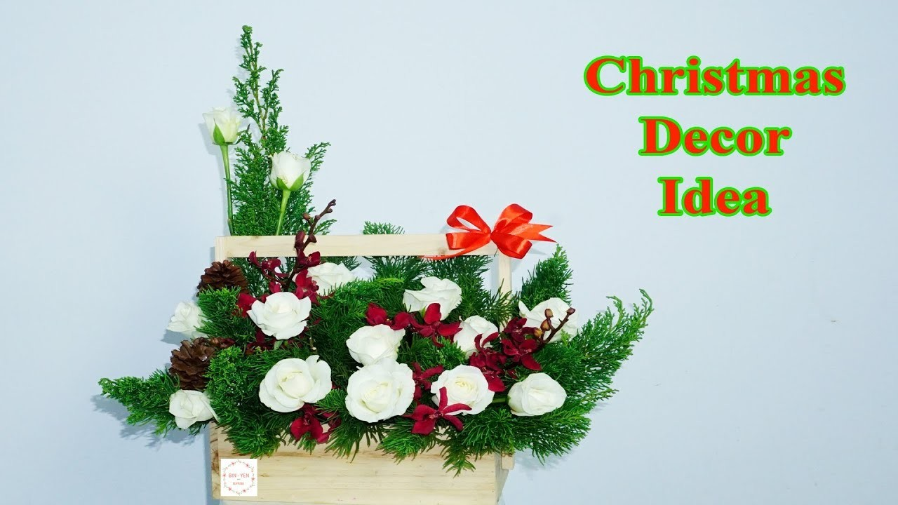 How to make Congratulation Flower Xmas Decoration flowers box ?
