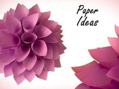 How to make DAHLIA from paper | HOME DECORATION