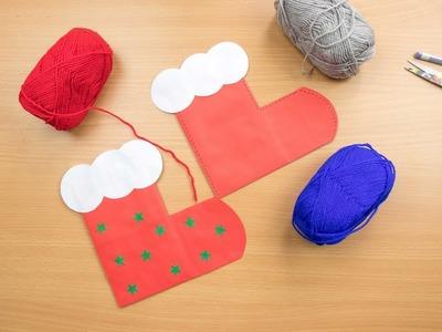 How to make easy paper Christmas Socks