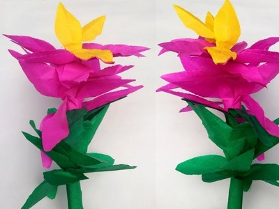 Easy How To Make A Paper Wall Decretion Paper Flower Wall Hanging