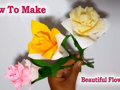 How to Make Flower Paper Diy Beautiful Flower ,Make flower paper by son's Khmer