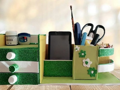 How to Make Organizer Box, Mobile And Pen Holder From Cardboard || DIY Craft || TB craft