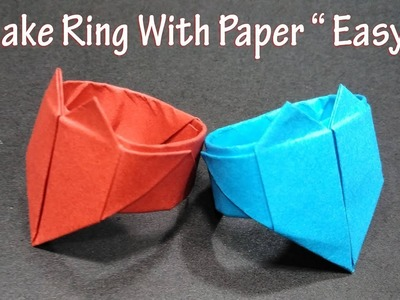 Origami Ring....... | Origami ring, Paper crafts origami, Origami paper art | 300x400