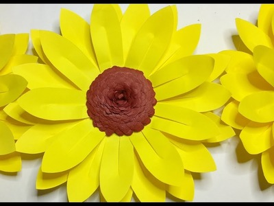 HOW TO MAKE SUNFLOWER | PAPER CRAFTS TUTORIAL