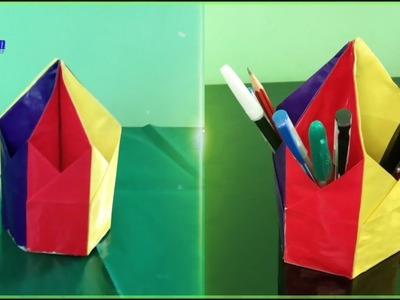 DIY: Pen & Pencil Holder !!! How to Make Origami Hexagonal Pen ... | 300x400