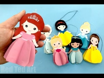 Paper Ariel Doll Ornament DIY with Printable