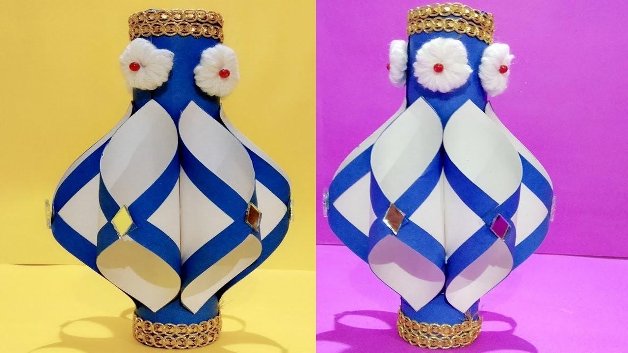 Paper Flower Vase For Decoration Paper Crafts Crafts Ideas Diy Paper