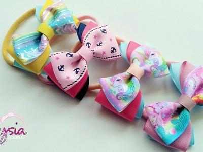 [PREVIEW] Headband ideas : Three Color Ribbon Bow Headband | DIY by Elysia Handmade
