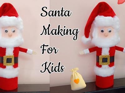 Santa Claus.How to make Christmas Santa Claus at home.Santa Claus Making for Kids.Christmas Decor
