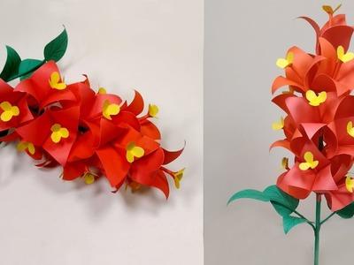 Stick Flower for Room Decoration    DIY Paper Stick Flower with Paper   Jarine's Crafty Creation