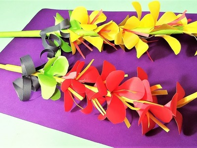 Flower Stick Paper Flower How To Make Flowers With Paper Easy