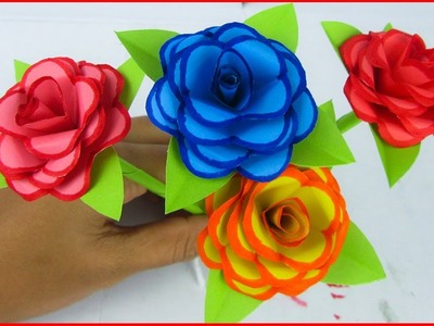 Super easy Origami paper Flower|| Very Simple and Easy to make Paper Rose || rose || diy