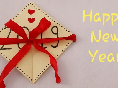 Very easy : How to make New year greeting card  2019 | New year Magic card 2019 | DIY Beautiful card