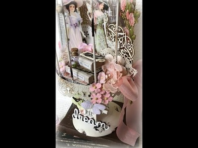 Altered Shabby Chic Birdcage (DT Project for Reneabouquets)
