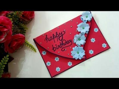 Beautiful handmade greeting card for birthday|| complete tutorial