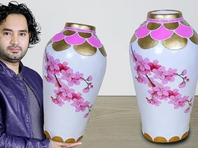 Big Size Paper Flower vase. Cement Flower vase. Corner flower vase