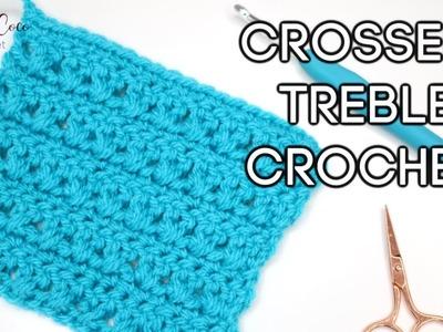 CROCHET: CROSSED TREBLE CROCHET STITCH   Bella Coco Crochet
