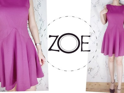 DIY Sewing Sleeveless Vintage Dress   FREE Sewing Patterns   Zoe DIY