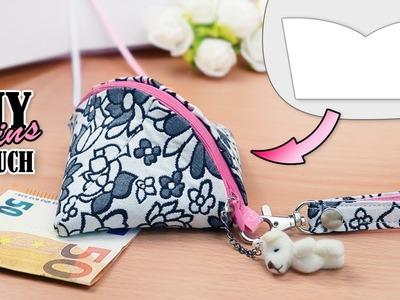 DIY SMALL DUMPLING COIN PURSE BAG TUTORIAL. Mini Zipper Pouch Wallet Design Fast Making