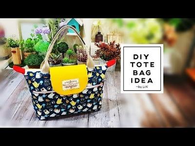 DIY TOTE BAG IDEA ‖ TOTE BAG TUTORIAL #HandyMum