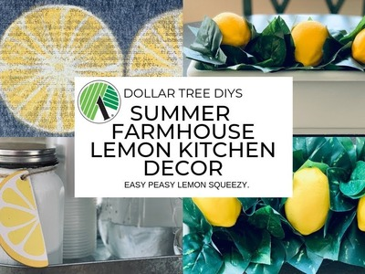 Dollar Tree DIY Farmhouse Kitchen Decor|Lemon Decor
