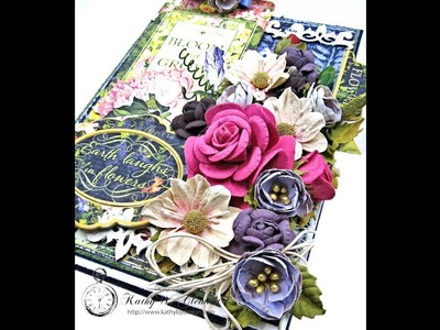 Earth Laughs in Flowers Card Folio Tutorial with Little Birdie Crafts and Graphic 45 Floral Shoppe