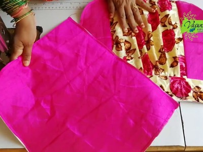 Easy and Simple Hand Bag Making At Home    How To Stitch Handmade Hand Bag With Fabric Clothes