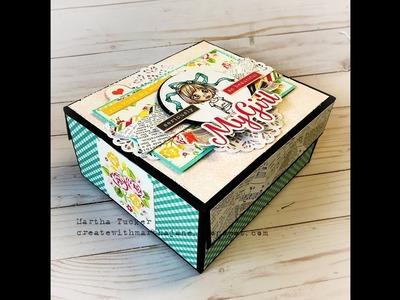 Echo Park Petticoats and Pinstripes Album in a Box Walk thru