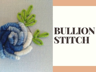 Hand Embroidery   Bullion stitch by EASY LEARNING BY ATIB