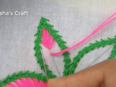 Hand Embroidery, Easy Flower Embroidery Tutorial, New Flower Embroidery Design