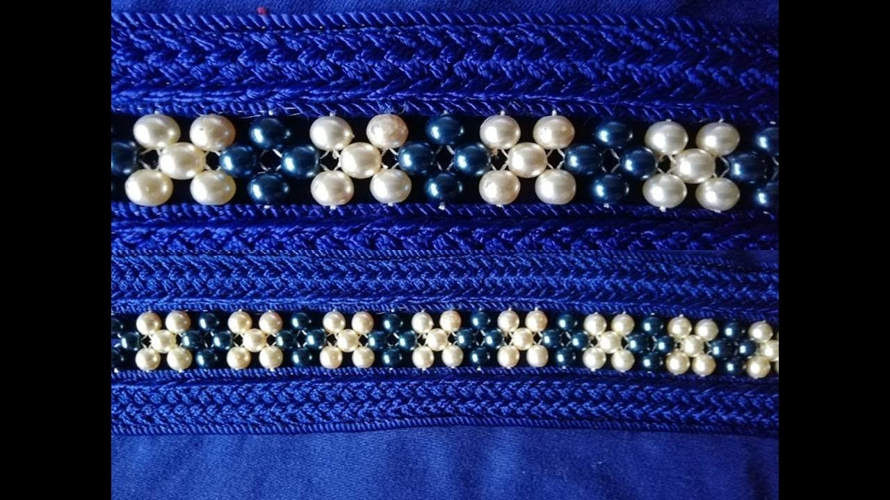 Hand embroidery with pearl