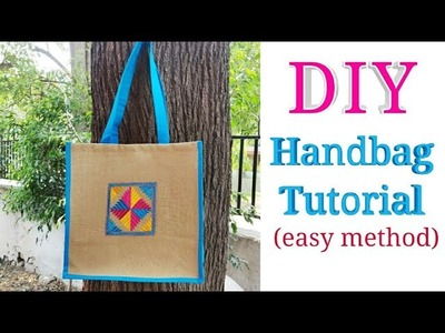 Handbag Cutting and Stitching in Hindi. Bag Making Tutorial